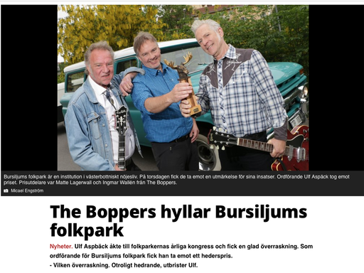 The Boppers hyllar Bursiljums folkpark